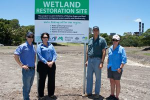 Mackay Sugar and Reef Catchments restore wetland at Racecourse Mill