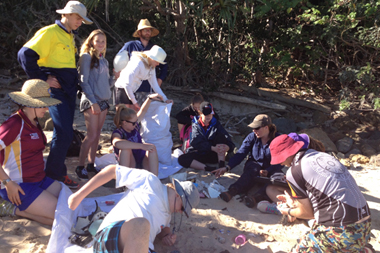 Reef Catchments Marine Classroom students